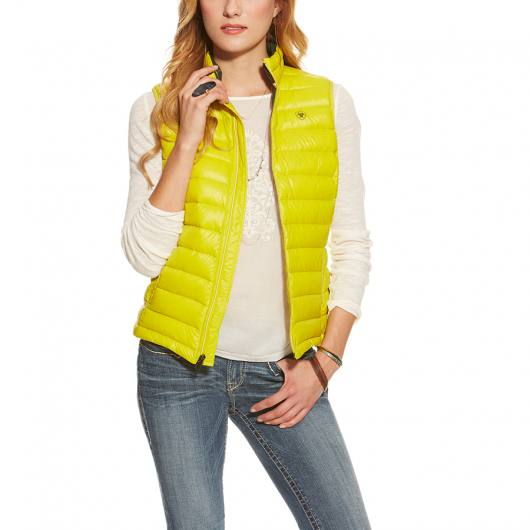 Ariat Ideal Down Vest limelight - Daunenjacke gelb