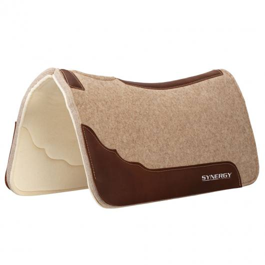 Weaver Synergy Contoured Virgin Merino Wool Performance Saddle Pad